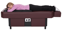 burgundy hydromassage table home use