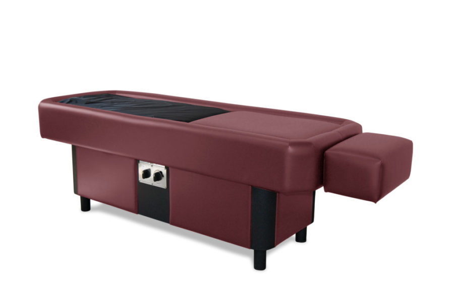 burgundy hydromassage table