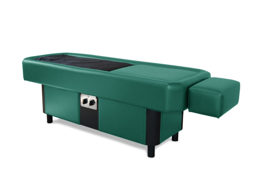 green hydromassage table