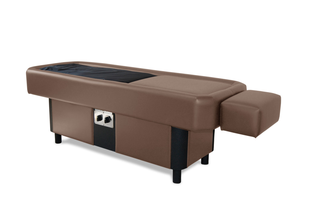 brown hydromassage table
