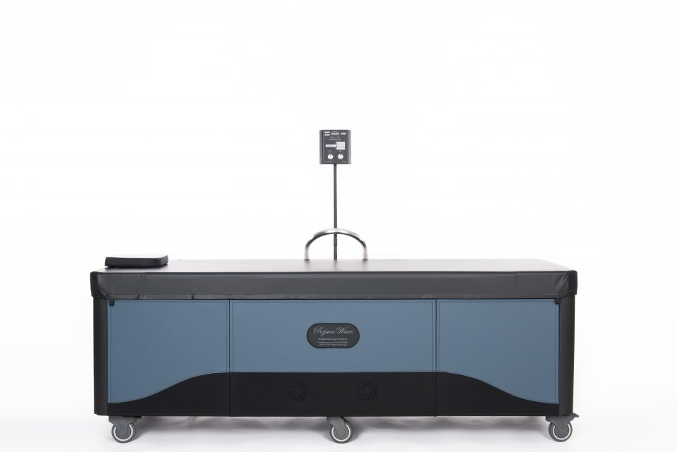 front image of rejuvawave hydromassage table