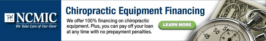 Chiropractic Equipment FInancing from NCMIC