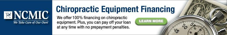 Chiropractic Equipment FInancing from NCMIC
