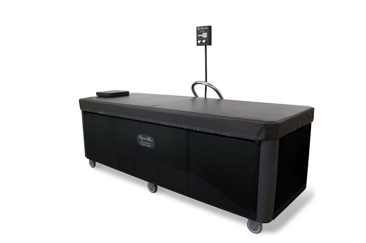 black rejuvawave hydromassage table