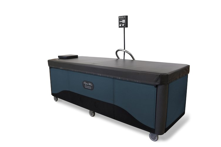 blue rejuvawave hydromassage table
