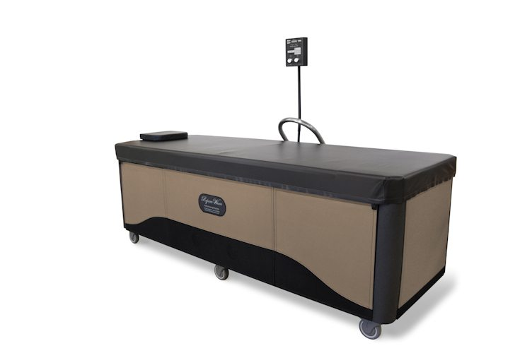 brown rejuvawave hydromassage table