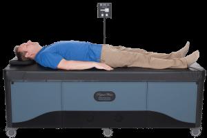 man laying on FB hydrotable